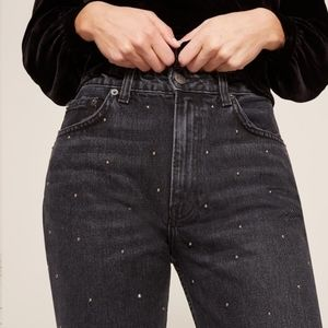 Reformation | Harley studded high rise jeans